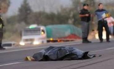 El Trébol: camión embistió a peatón y lo mató