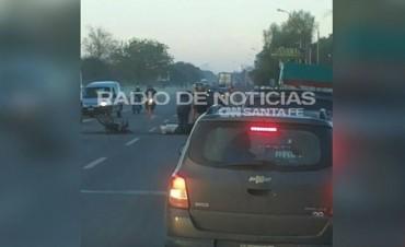 Falleció una motociclista en la Ruta Nacional 11