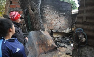 Un hombre murió calcinado tras un incendio en una construcción
