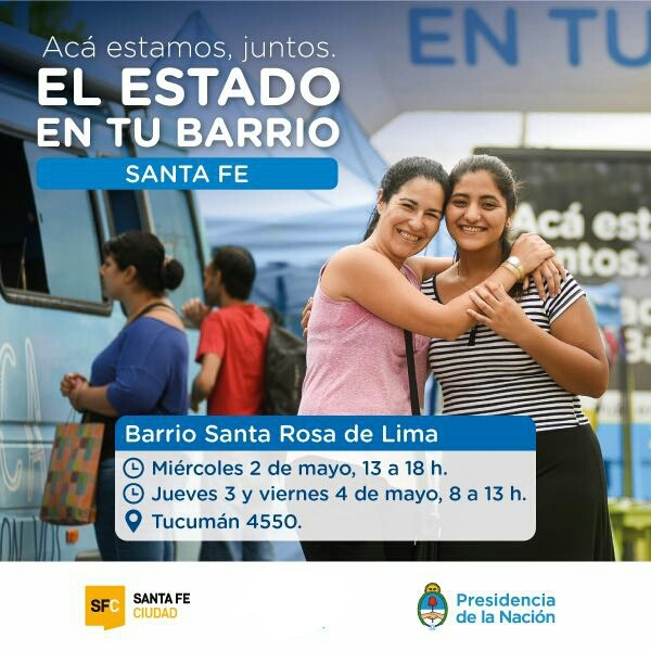 Hasta el viernes, El Estado en tu Barrio visita Santa Rosa de Lima
