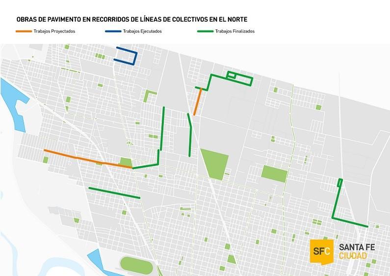 El Gobierno de la Ciudad hace foco en recuperar y pavimentar calles del norte