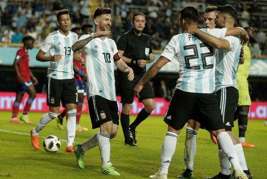 La Selección Argentina goleó a Haití