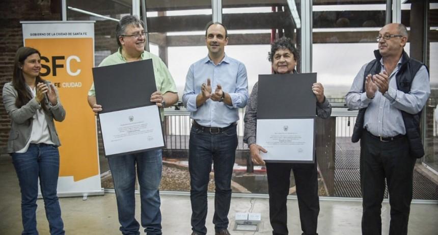 Rubén Deicas y Marcos Camino fueron reconocidos como Embajadores de la Ciudad