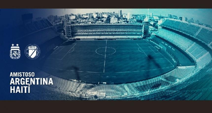 Argentina se enfrentará a la Selección de Haití