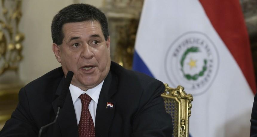 El presidente de Paraguay, Horacio Cartes, presentó su renuncia