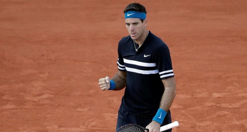 Del Potro ganó en su debut en Roland Garros