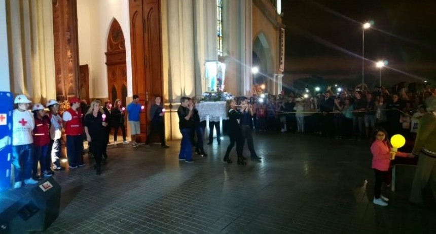 La Virgen de Guadalupe salió a la explanada de la Basílica