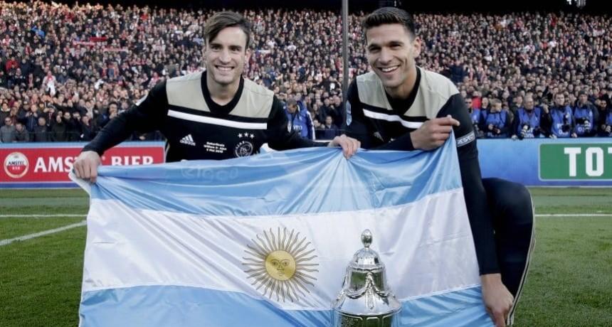 Tagliafico y Magallán, campeones con Ajax en la Copa de Holanda