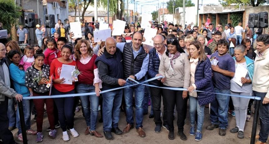 Inauguraron nuevas obras en Barranquitas Oeste