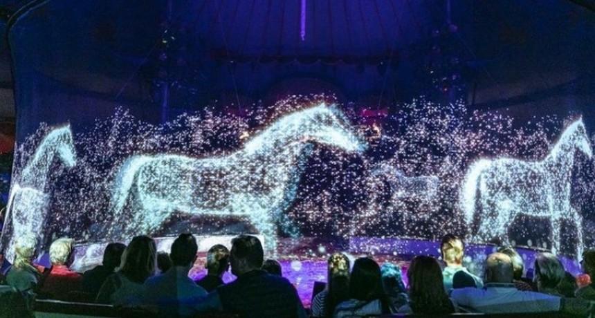 Un circo utiliza hologramas en lugar de animales para detener el maltrato