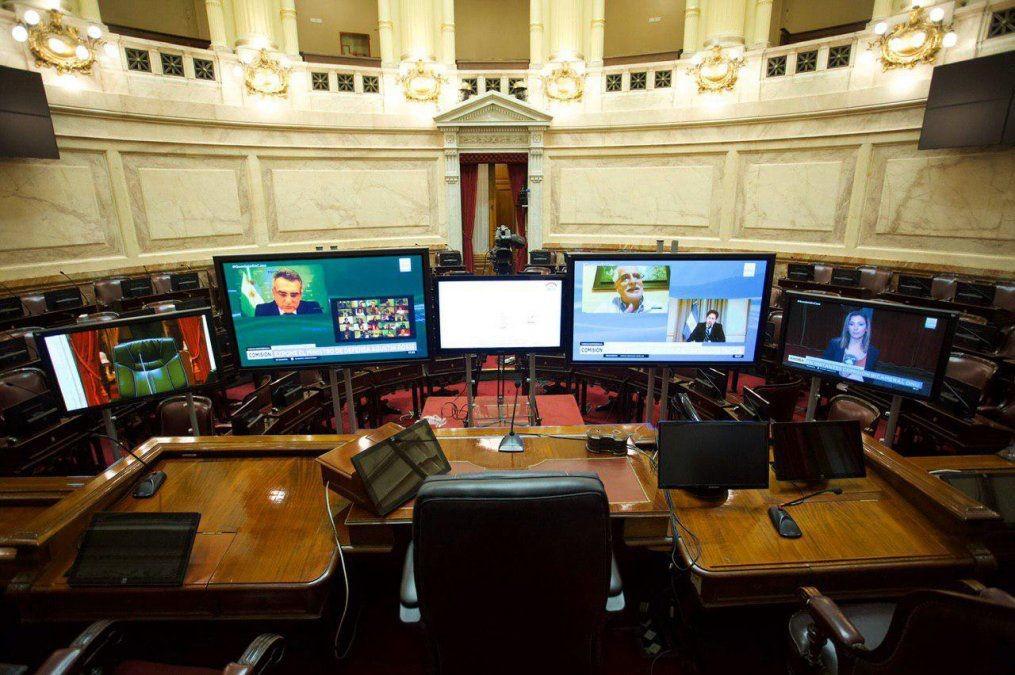 El Senado tendrá su primera sesión virtual remota el miércoles 13 de mayo