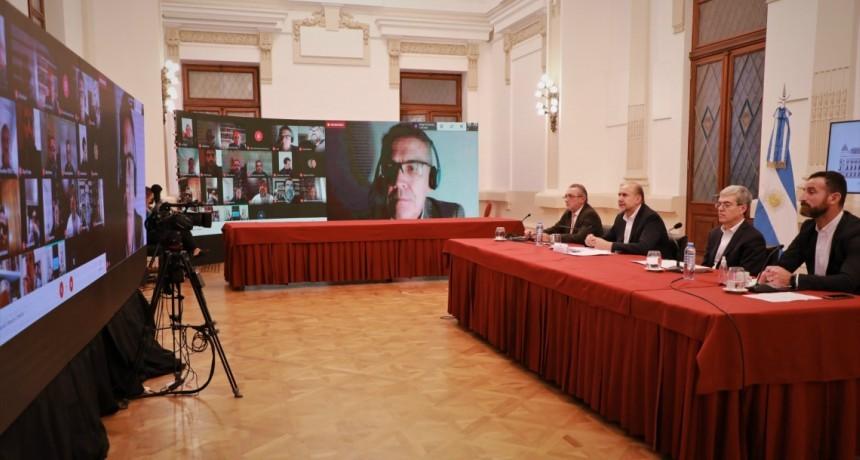 Perotti mantuvo encuentros de trabajo con instituciones de comerci o y acción social