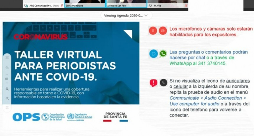 El gobierno de la provincia de Santa Fe organizó y llevó adelante un taller para periodistas sobre Covid-19