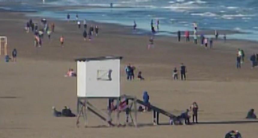 Necochea ensayó las primeras salidas a la playa