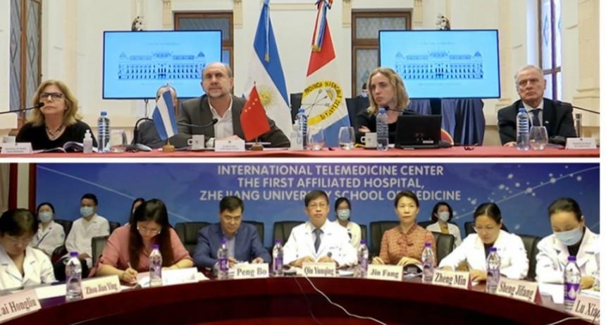 Perotti participó de una videoconferencia con expertos de salud de la provincia china Zhejiang