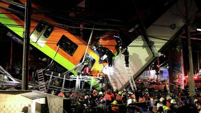 Tagedia en México: 23 muertos y 70 heridos al colapsar un puente del metro de la capital mexicana