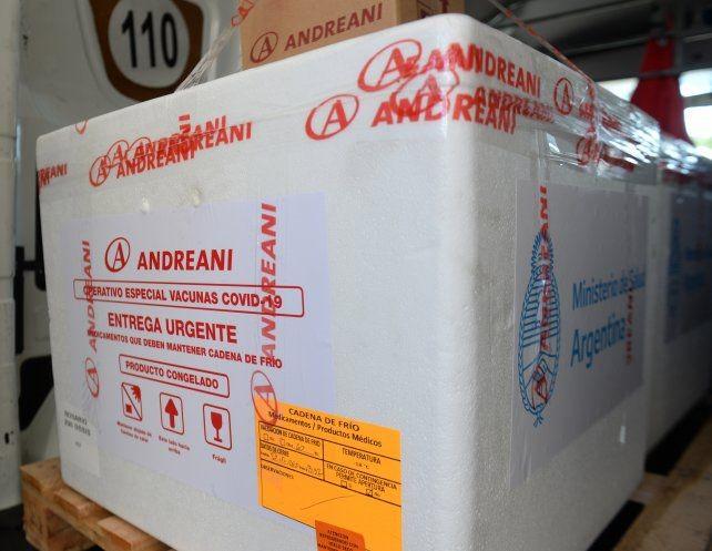 Las vacunas de AstraZeneca que llegan a Santa Fe se usarán como segunda dosis