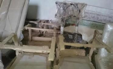 Hallan muebles para el Hotel Alto Calafate en un depósito de Lázaro Báez