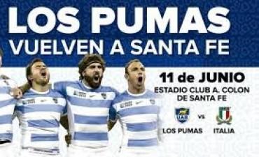 Los Pumas se miden con Italia en Colón