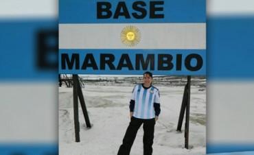 Yanina Gauna, santafesina en la Base Marambio: