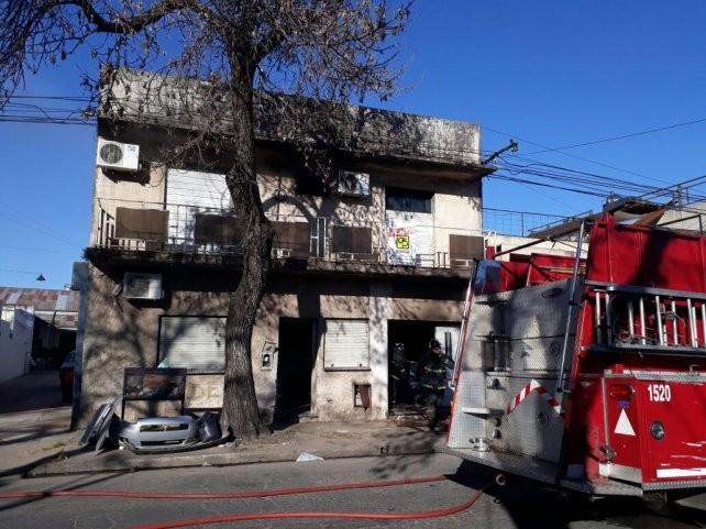 Un bebé de tres meses resultó afectado en un incendio
