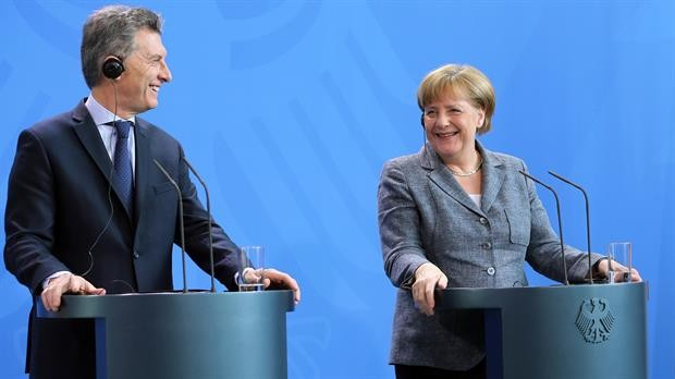 Macri recibe a la canciller alemana Ángela Merkel