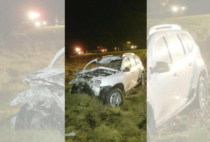 Fuerte choque en la autopista Santa Fe - Rosario