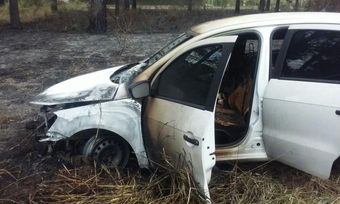 Se incendió un auto en la Autopista Santa Fe-Rosario