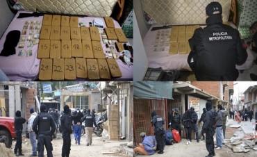 Mega operativo anti narco en Buenos Aires