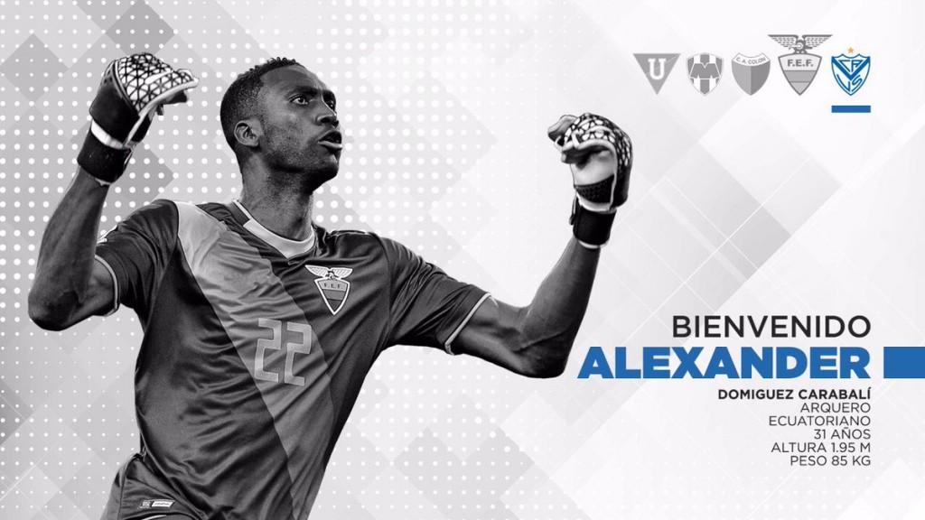 Alexander Domínguez ya es jugador de Vélez
