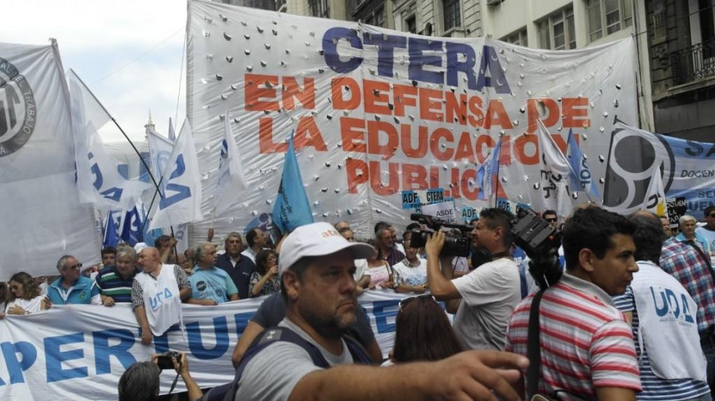 CTERA anunció un paro docente para el próximo martes