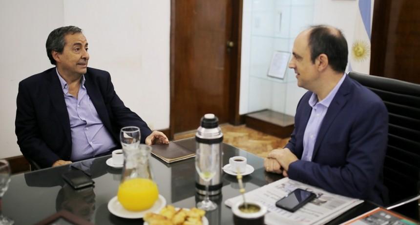 José Corral se reunió con funcionarios del Ministerio de Seguridad de la Nación
