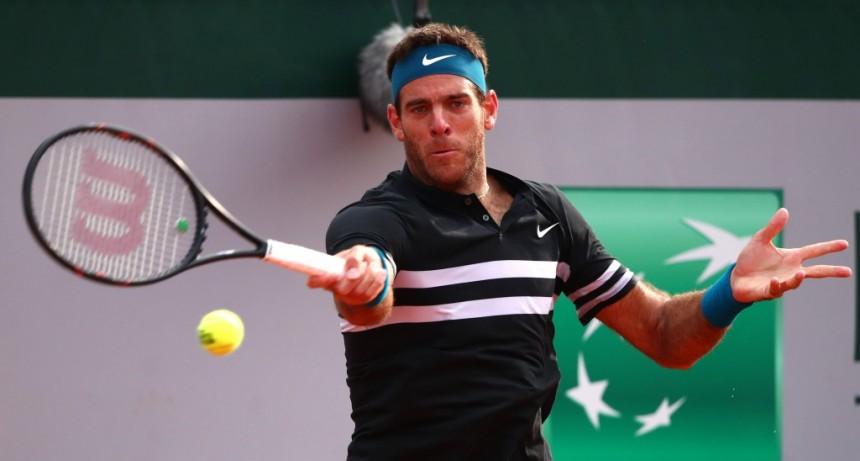 Del Potro le ganó a Isner y está en cuartos de Roland Garros