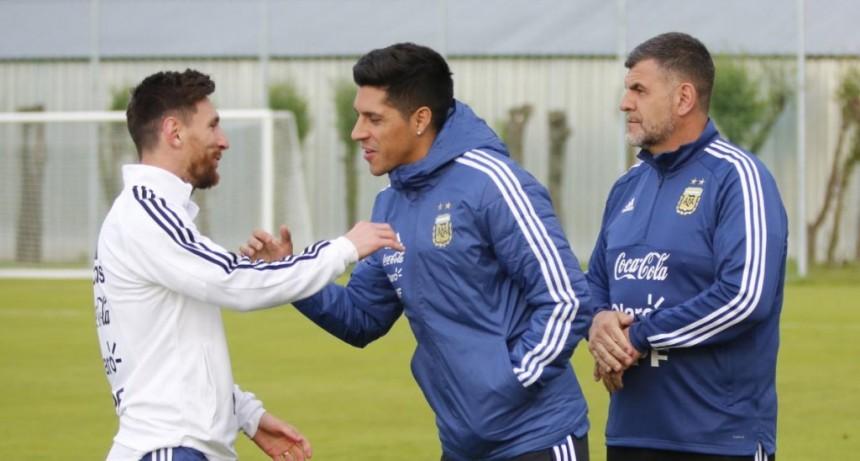 Así fue recibido Enzo Pérez por el plantel de Argentina