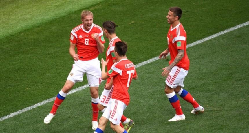 Rusia le ganó 5 a 0 a Arabia Saudita en el debut del Mundial