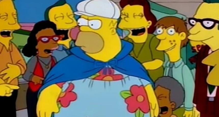 ¡Hizo la gran Homero Simpson!