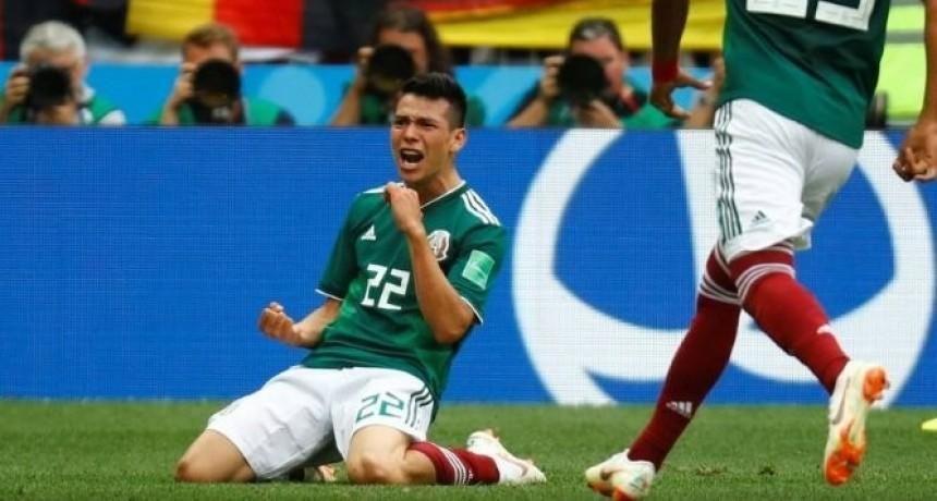 Durante el gol de Lozano, se registró un sismo en México