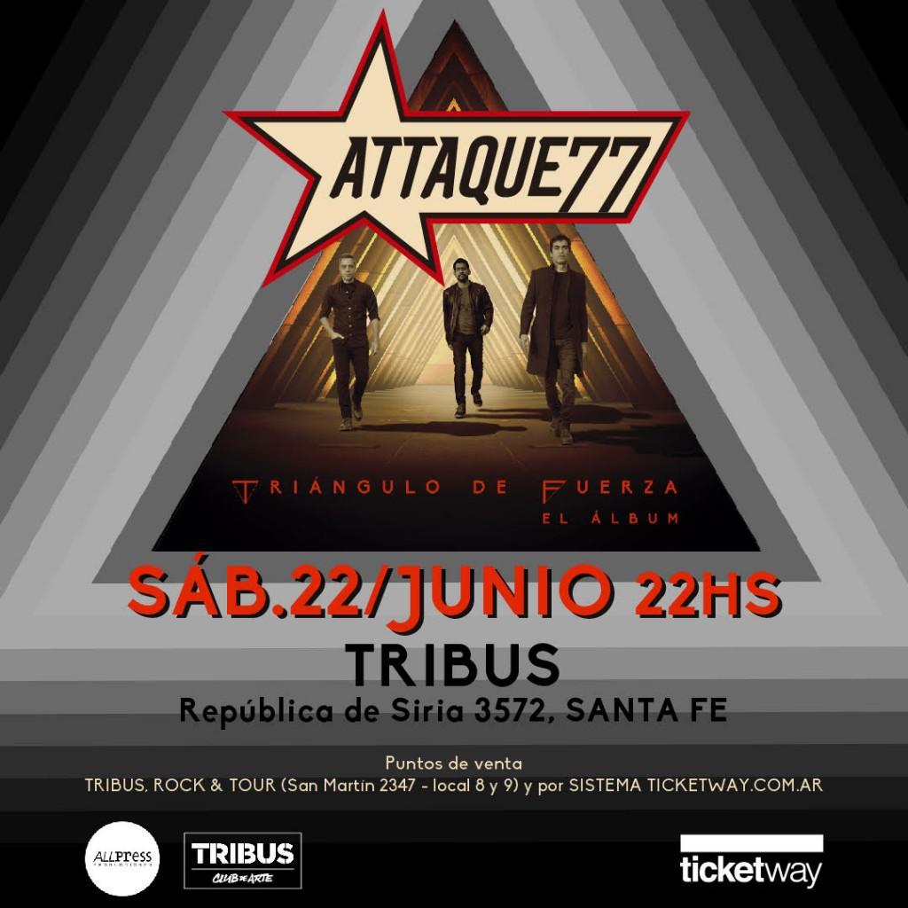 Attaque 77 se presenta en Santa Fe