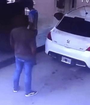 Narco fue a cargar gas y le explotó el tanque lleno de cocaína