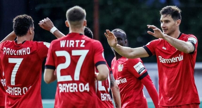El Pipa vuelve a jugar una final: Alario metió un gol clave para el Bayer Leverkusen