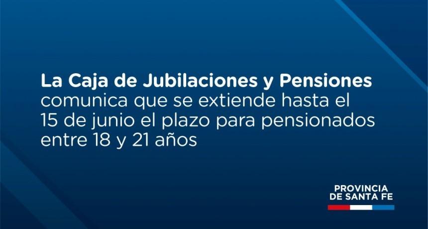 La Caja de Jubilaciones y Pensiones extiende el plazo para presentar documentación a pensionados entre 18 y 21 años