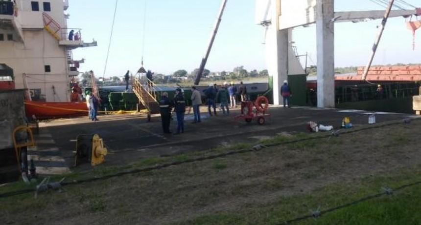 Después de cinco años ingresó un barco cerealero al puerto de Santa Fe