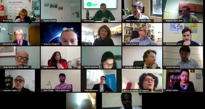 Jatón participó de una videoconferencia con representantes de la ONU