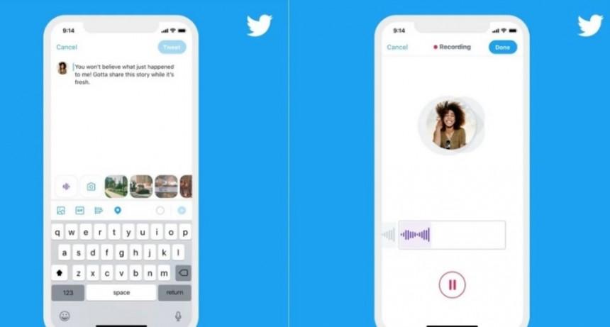 Twitter incorporó las notas de voz