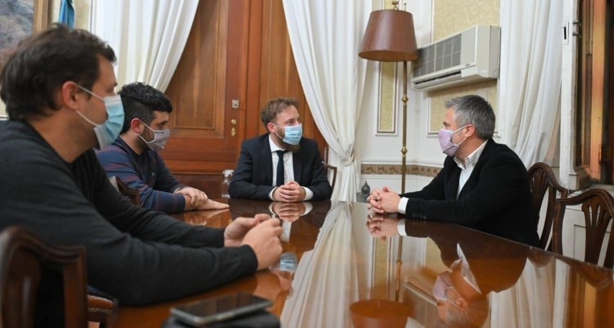 Busatto y Otermin se reunieron para trazar una agenda política común entre Buenos Aires y Santa Fe