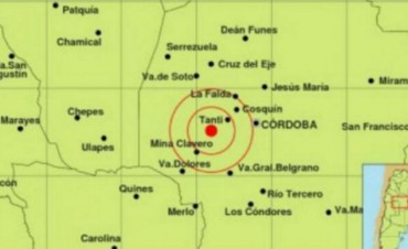 Se sintieron tres sismos en media hora en Córdoba