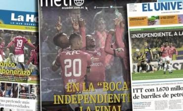 Tras eliminar a Boca, en Ecuador aseguran que Independiente hizo