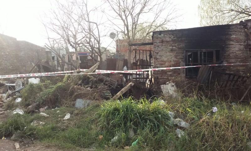 Un hombre sufrió quemaduras tras incendiarse su vivienda en Villa Hipódromo