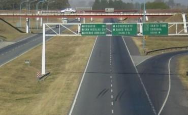 Desde el martes, la provincia recupera el manejo de la Autopista Santa Fe-Rosario