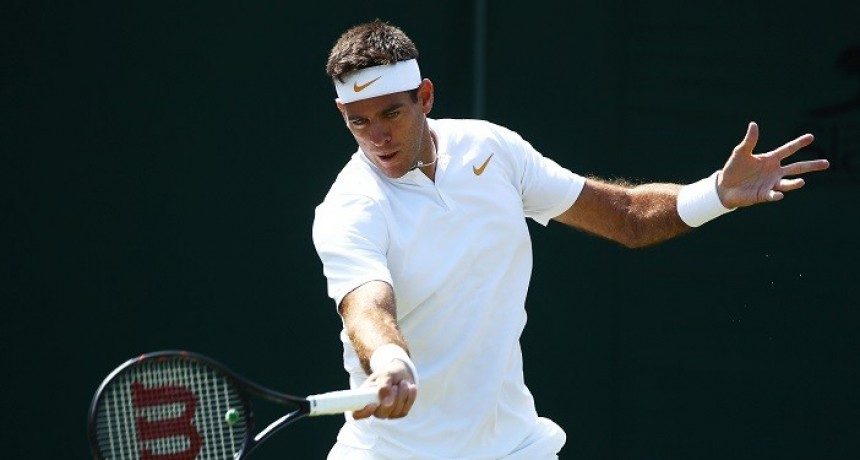 Del Potro debutó en Wimbledon con un contundente triunfo